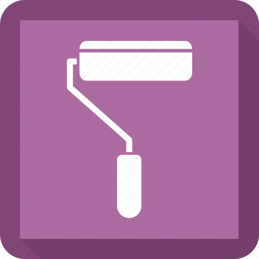 paint, roll, tool icon
