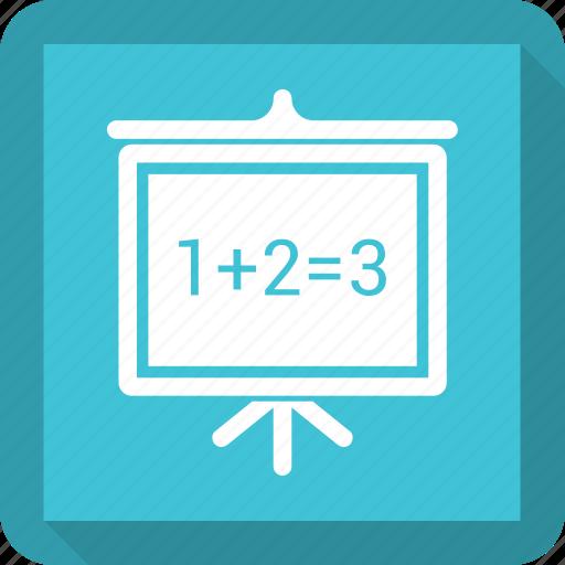 blackboard demo list powerpoint slideshow icon