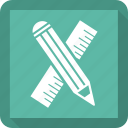 design, measure, pencil, tool icon