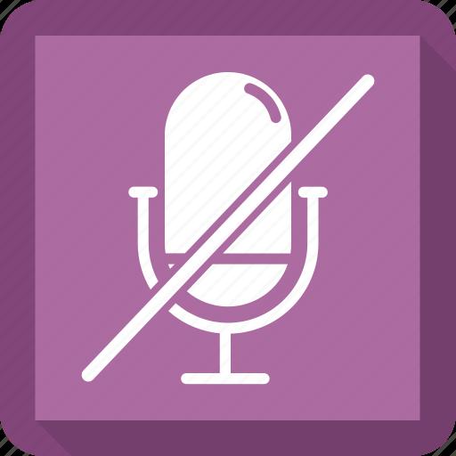 audio, microphone, multimedia, off, sound icon