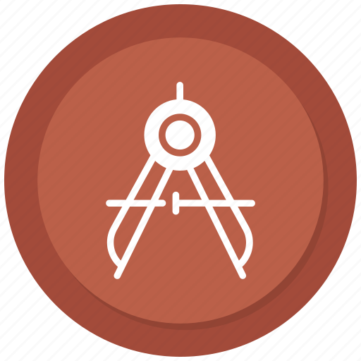 compass, maths, protracter, tools icon
