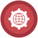 business, earth, global, global mechanism icon