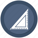 angle, ruler, tools icon