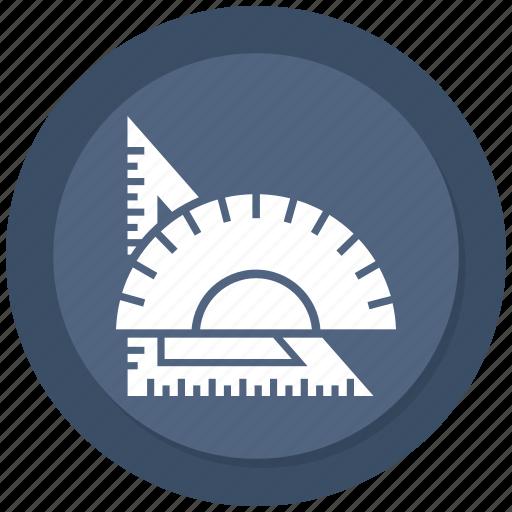 angle, ruler, tools icon