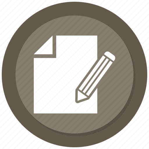 document, paper, pencil, write icon