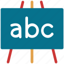 abc, board, classroom, school icon