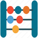 abacus, calculate, calculator, math icon