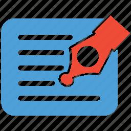 document, edit, pen, write icon