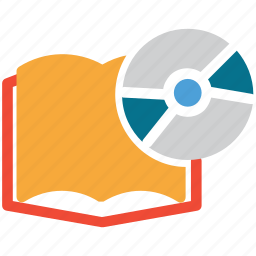 book, cd, education, educational cd icon