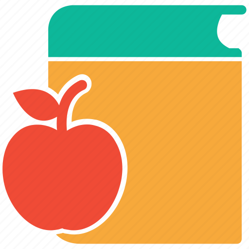 apple, book, lunch, lunch break icon