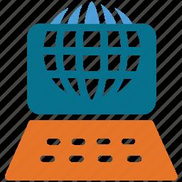internet, internet connection, laptop, network icon