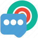 cd, chat bubble, conversation, recording icon