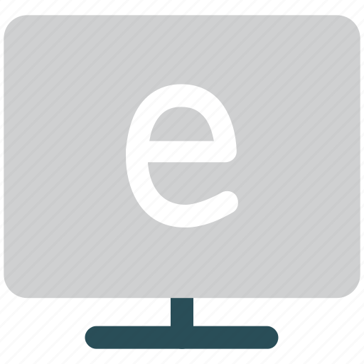 e displaying, exploring, monitor, screen icon