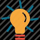 bulb, light, light bulb, yellow light icon