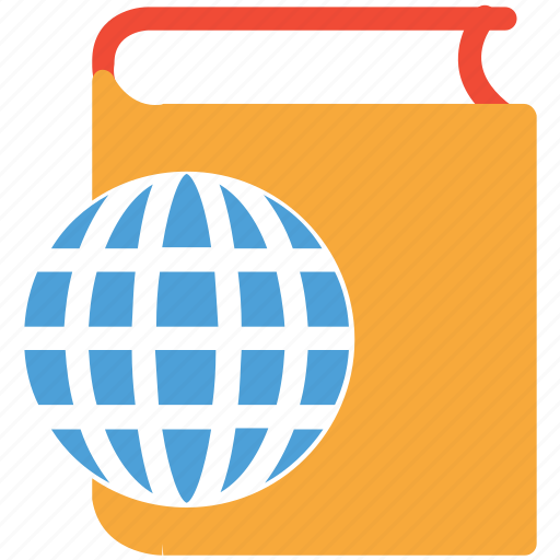book, ebook, globe, online library icon