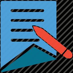 edit, pencil, text document, write icon