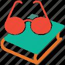 book, eyeglasses, education, reading
