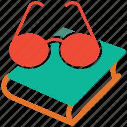 book, education, eyeglasses, reading icon