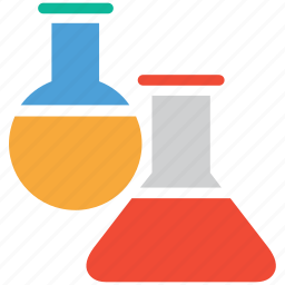 experiment, lab equipment, laboratory, test tubes icon