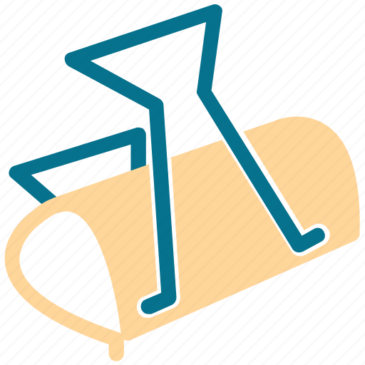clamp clip, paper clamp, paper clip, tool icon