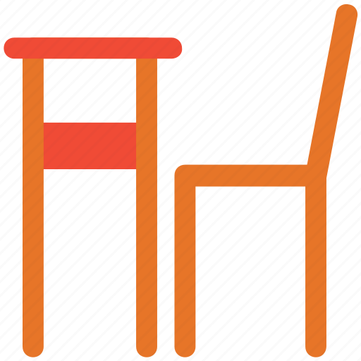 chair, furniture, interior, table icon