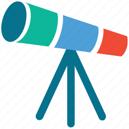 astronomy, space, telescope, view icon