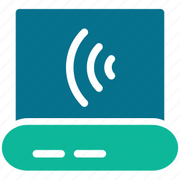 connection, internet, laptop, network icon