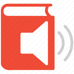 audio book, book, ebook, speaker sign icon