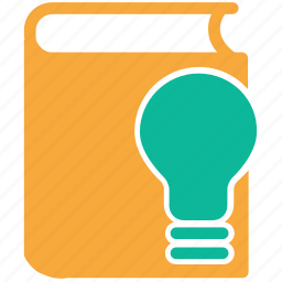 book, education, light, light bulb icon