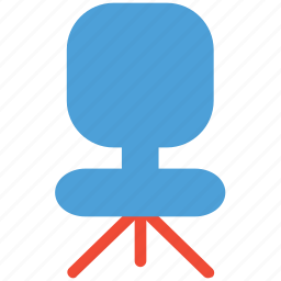 chair, office chair, revolving chair, seat icon