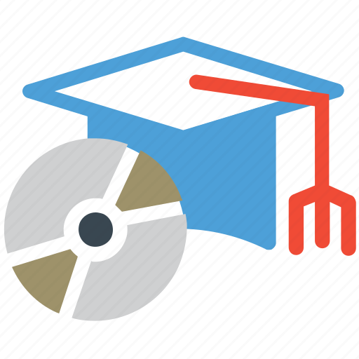 cd, ceremony recording, graduation hat, recording icon