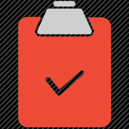 check mark, checked, clipboard, document icon