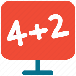 math, maths, sum, writing board icon