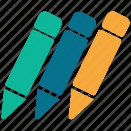 color pencils, colors, drawing pencils, pastels icon