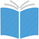 book, bookmark, education, open book icon
