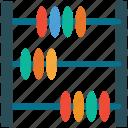 abacus, calculate, calculator, school icon