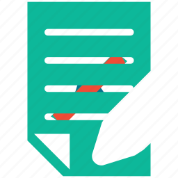 document, pencil, text, write icon