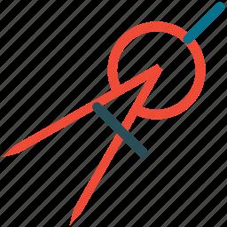 compass, drawing tool, geometry tool, tool icon