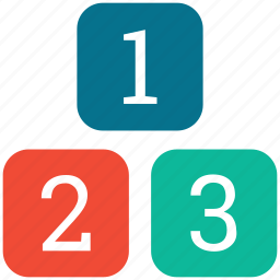digits, digits 123, numbers, ranking factor icon