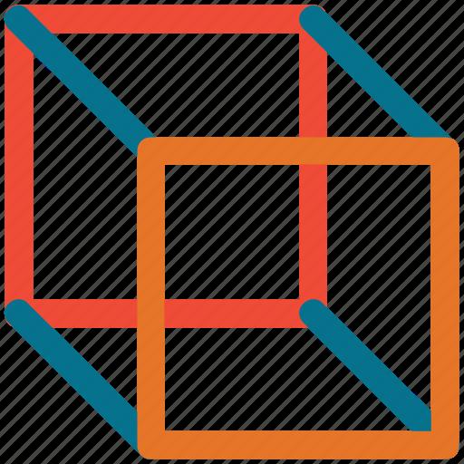 box, cube, cubic, cubic box icon