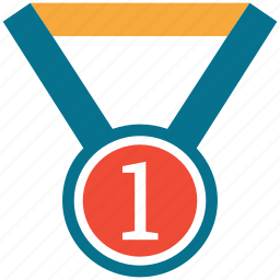 award, medal, number one, prize icon
