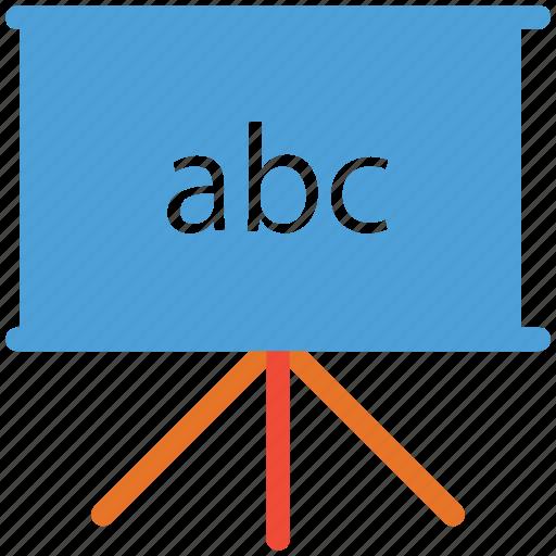 alphabets, blackboard, chalk board, whit board icon