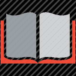 book, open book, reading, study icon