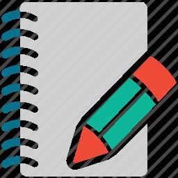 diary, notebook, pencil, write icon