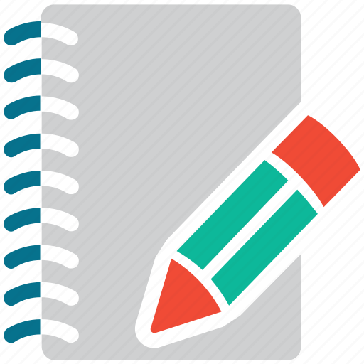 diary, notebook, pencil, write icon