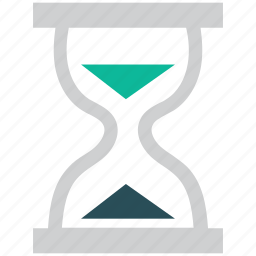 hour glass, sand, time, timer icon