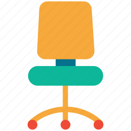 chair, office seat, revolving chair, seat icon