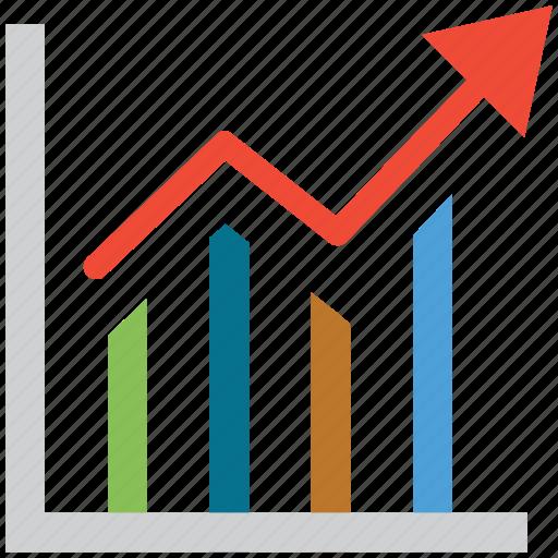 ascending, ascending line, profit, up icon