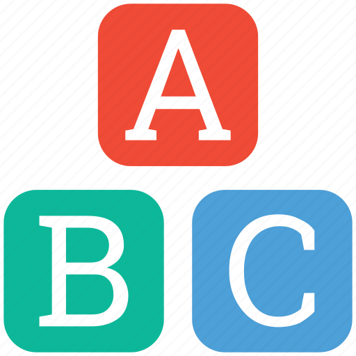 alphabets, learning english, letters, letters abc icon