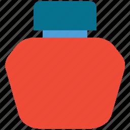 ink, ink bottle, ink pot, write icon